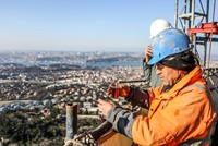The construction of the new Istanbul TV tower located on Istanbul's Asian side is nearing the end.