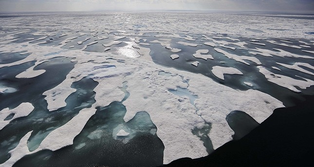 Sea ice melts on the Franklin Strait along the Northwest Passage in the Canadian Arctic Archipelago on July 22, 2017. (AP Photo)