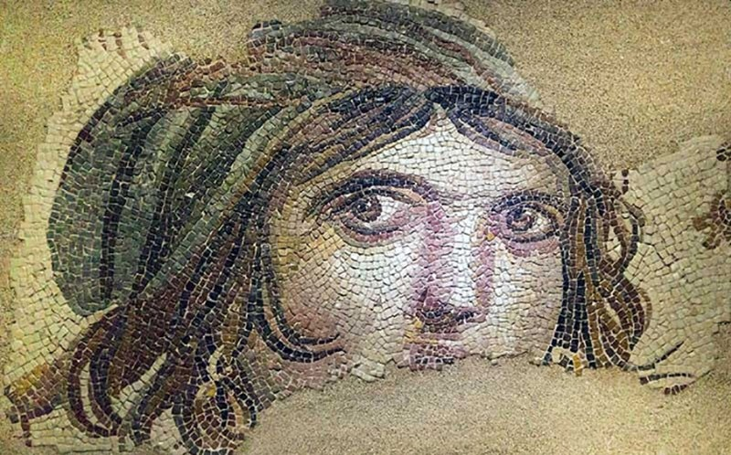 The remaning parts of the famous Gypsy Girl mosaic is being displayed at the Bowling Green University.
