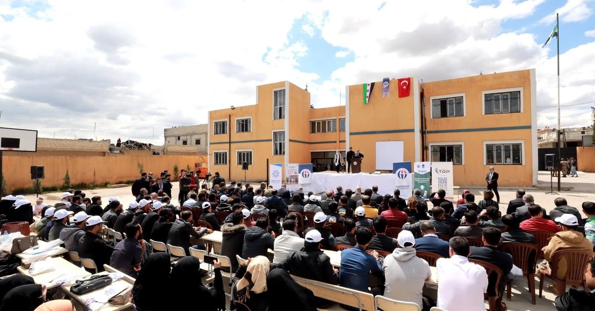 Gaziantep Universityu2019s vocational school in Aleppou2019s Jarablus district, May 26, 2019.