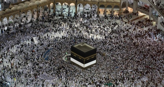 Muslims circumambulate the Kaaba, the holiest site in Islam, in one of the religious rituals pilgrims perform.