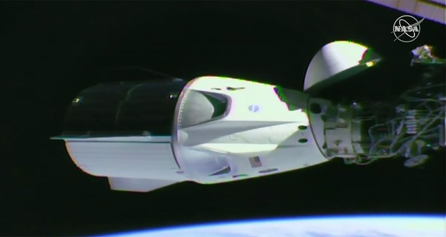 SpaceX Crew Dragon capsule successfully docks with