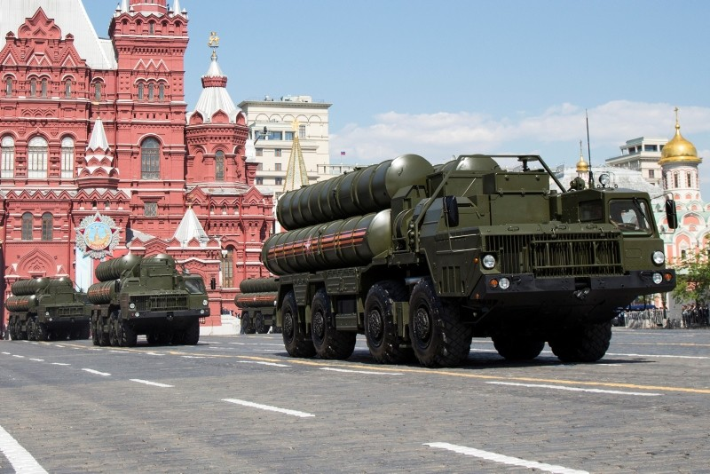 In this file photo taken on Monday, May 9, 2016, Russian the S-300 air defense missile systems drive during the Victory Day military parade marking 71 years after the victory in WWII in Red Square in Moscow, Russia. (AP Photo)