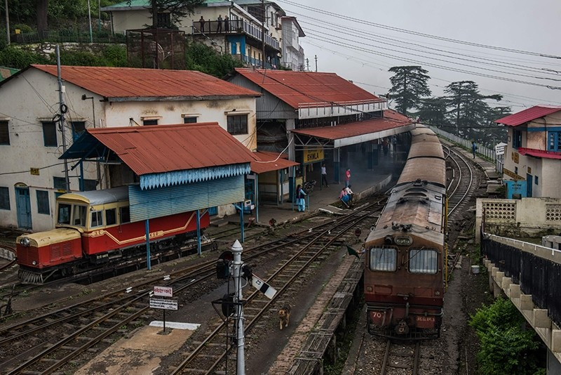 In this photograph taken on July 30, 2017, the toy train which runs between Shimla and Kalka leaves the train station in Shimla (AFP File Photo)