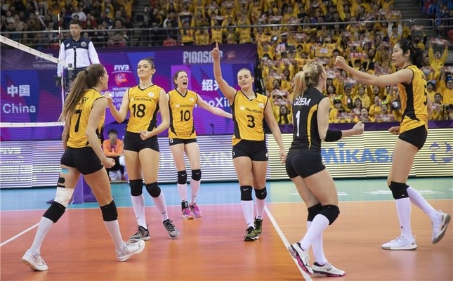 Photo courtesy of the official Twitter account for Volleyball World (@FIVBVolleyball).