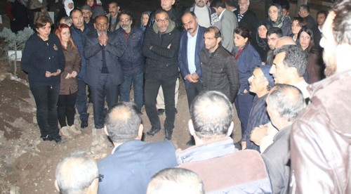 HDP lawmakers Sibel Yiğitalp and Berdan Öztürk were seen at the funeral of PKK terrorist in Diyarbakır.