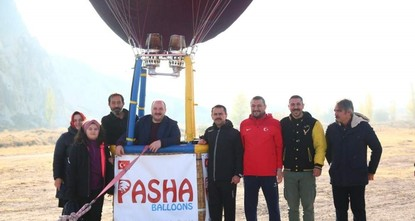 First domestic hot air balloon takes off in Cappadocia