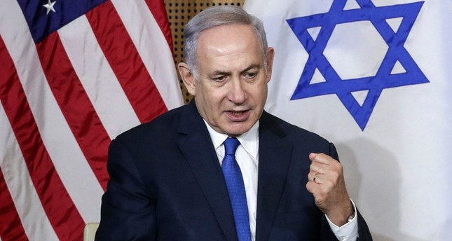 Israeli Prime Minister Benjamin Netanyahu reacts during a bilateral meeting with United States Vice President Mike Pence in Warsaw, Poland, Thursday, Feb. 14, 2019. (AP Photo)