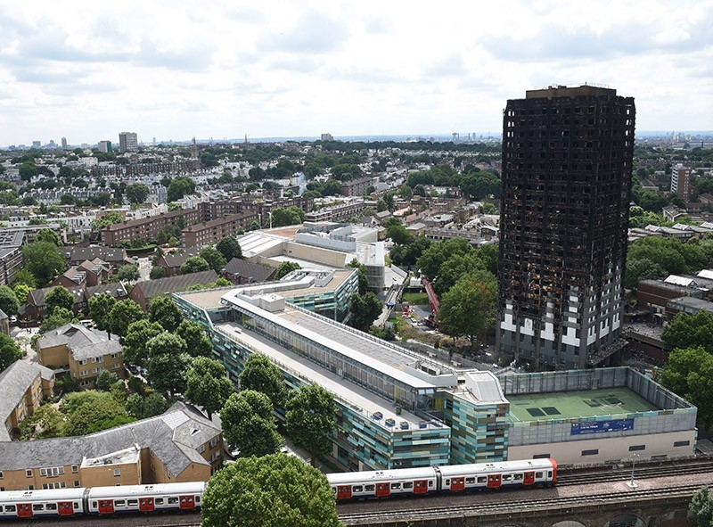 A general view of the Grenfell Tower in North Kensington area of London, Britain, 30 June 2017. (EPA Photo)