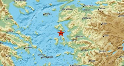 pA magnitude 6.3 earthquake struck near Turkey's western coast, Kandilli Observatory and Earthquake Research Institute said Monday. The earthquake reportedly took place at 3:31 PM local...