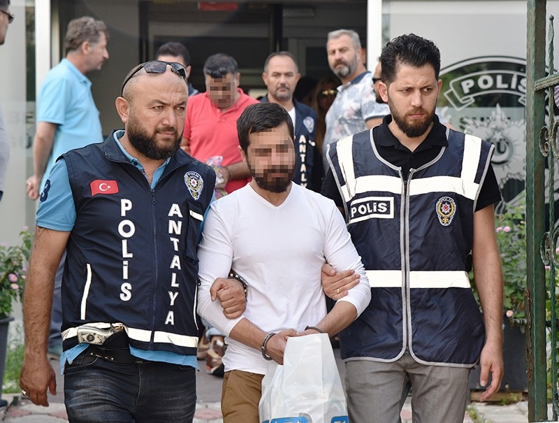 A FETu00d6-linked suspect is arrested in southern Antalya province on June 19, 2018. (DHA Photo)