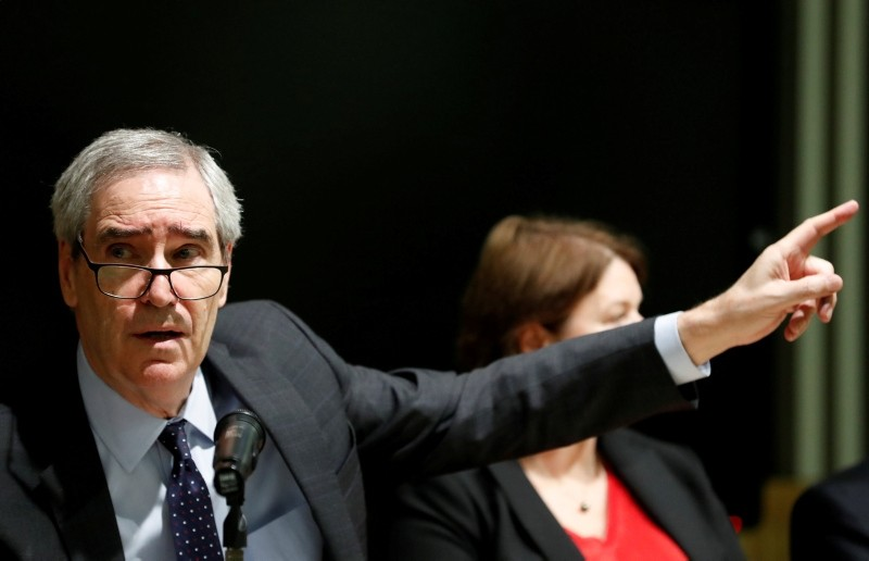 Michael Ignatieff, rector of the Central European University gestures during a news conference in Budapest, Hungary, December 3, 2018. (Reuters Photo)