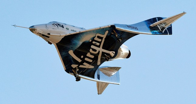 Virgin Galactic's space tourism rocket plane SpaceShipTwo returns after a test flight from Mojave Air and Space Port in Mojave, California, U.S. December 13, 2018. (Reuters Photo)