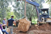 3 more ancient tombs discovered at olive grove thought to be necropolis in Turkey's Bursa