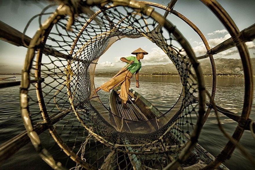 Fisherman at Inle Lake, Myanmar. 1st place, Student