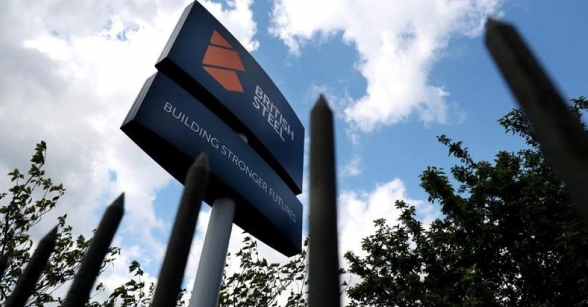 A British Steel sign in Scunthorpe, northern England, Britain, May 21, 2019. (Reuters Photo)