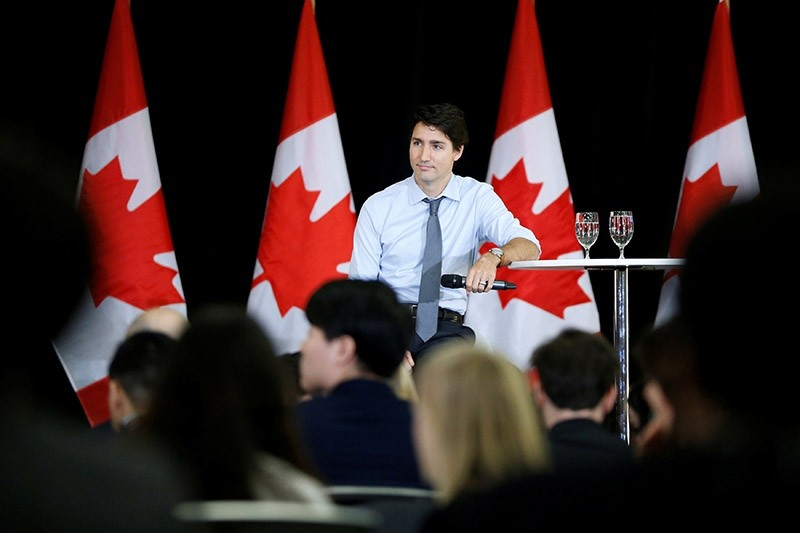 Canada's Prime Minister Justin Trudeau takes part in a question and answer session with youth leaders in Ottawa, Ontario, Canada, February 6, 2017. (Reuters Photo)