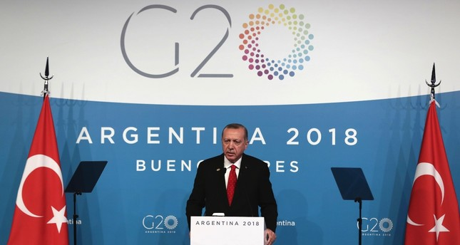 At a news conference on the final day of the G20 summit in Argentina on Saturday, President Erdoğan made remarks about the Khashoggi murder, the Syria crisis, defending rights in the Eastern Mediterranean and more.
