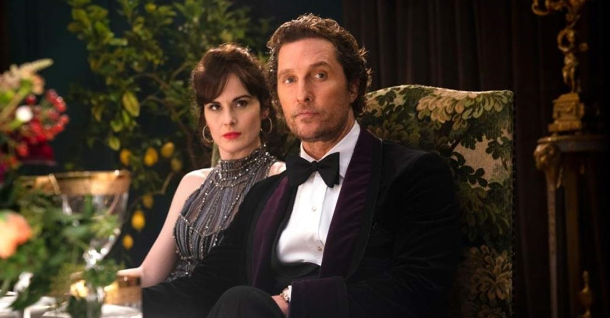 Michelle Dockery and Matthew McConaughey in ,The Gentlemen.,