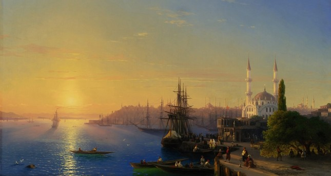 "Ivan Aivazovski, ""Istanbul and the Bosporus Panorama."""