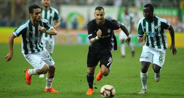 بشيكطاش يتعادل مع مضيفه بورصا سبور في الدوري التركي