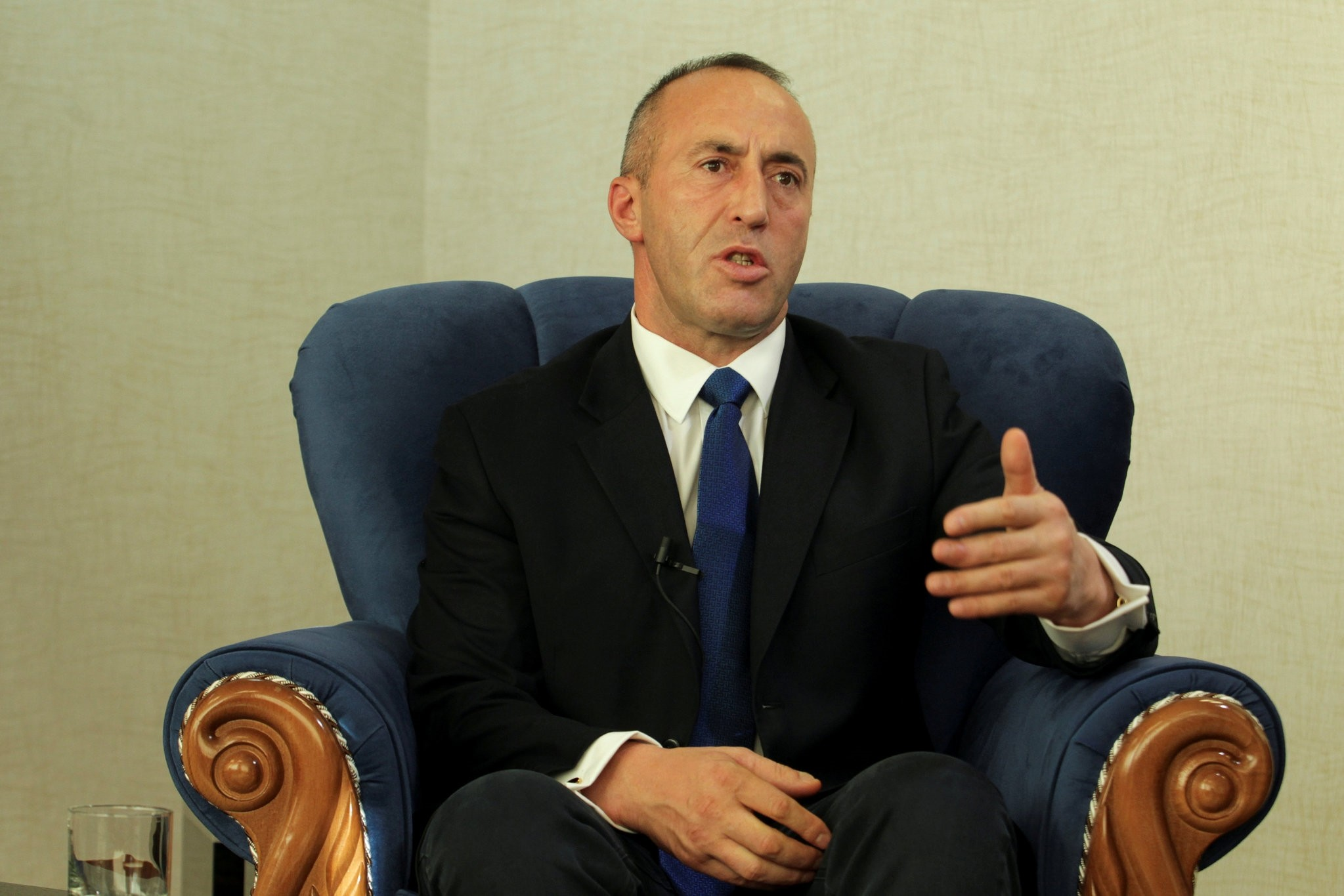The prime minister of Kosovo, Ramush Haradinaj, (above) was accused by President Recep Tayyip Erdou011fan of acting in accordance with orders he is receiving from abroad for firing officials involved in the extradition of six people with links to FETu00d6.