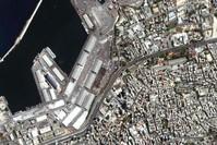 صورة عامة لمرفأ بيروت حيث وقع الانفجار الفرنسية