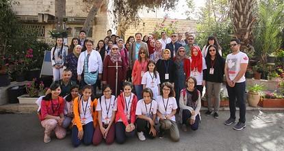pA group of 12 Turkish schoolgirls paid a visit to their Palestinian peers in Dar'ul Tifl el-Arabi Girls' School in Israeli-occupied East Jerusalem, staying with Palestinian families and attending...