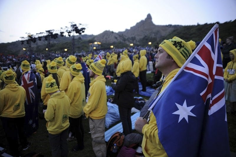 Thousands attend the dawn service marking Anzac Day in Gallipoli to mark the 102st anniversary of Anzacu2019s unsuccessful Gallipoli Campaign in World War I.