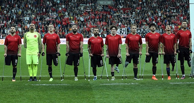 turkish national amputee football team crowned european champions