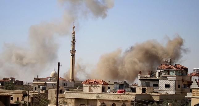 النظام السوري يقصف بلدة بصرى الحرير الفرنسية