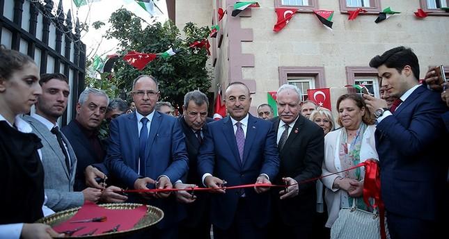 جاوش أوغلو يفتتح القنصلية الفلسطينية العامة في إسطنبول