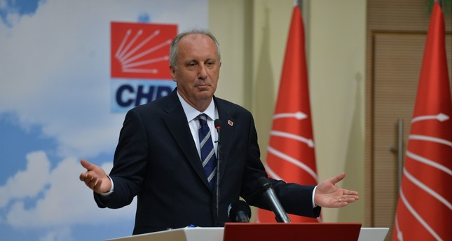Muharrem İnce on Tuesday said he had urged Kılıçdaroğlu to call an extraordinary congress and his intention to run for president.