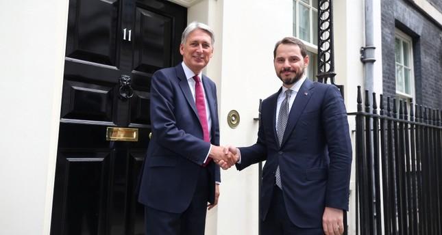 وزير المالية التركي يلتقي نظيره البريطاني وممثلي أكبر المؤسسات المالية العالمية