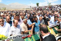 Funeral held for two children killed by PKK terrorists