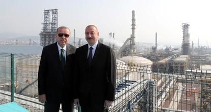 Erdoğan, Aliyev inaugurate SOCAR refinery in Izmir
