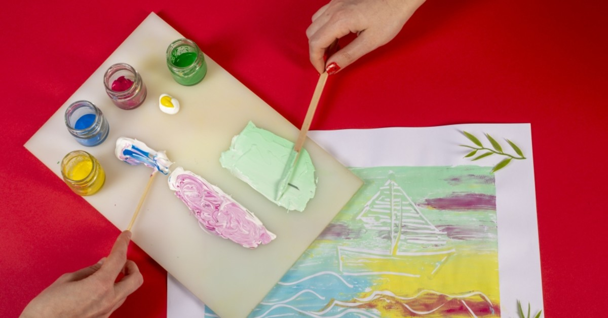 ,Interpreting Dreams: Monoprints, workshop aims to develop children's concentration skills.