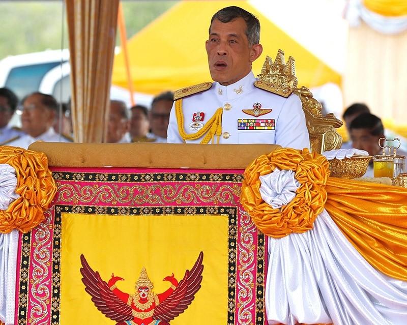 A file picture dated 09 May 2016 shows Thai Crown Prince Maha Vajiralongkorn presiding over the Royal Ploughing ceremony at Sanam Luang in Bangkok, Thailand. (EPA Photo)