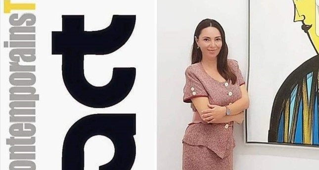 Turkish works of art are exhibited at the fair under the direction of Nazan Aktan's foundation.