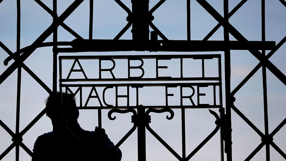 Stolen Dachau Concentration Camp Gate Found in Norway. (AP Photo)