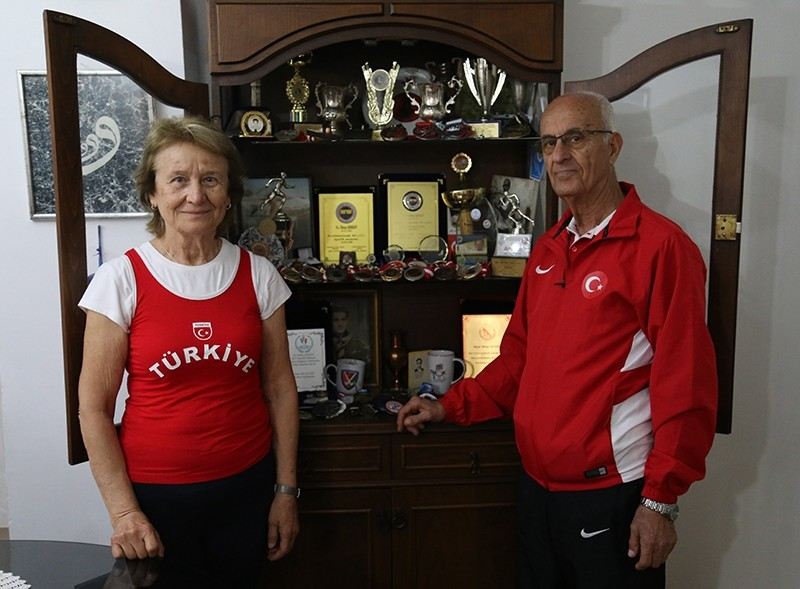 Their home is decorated with medals from wins around the world.