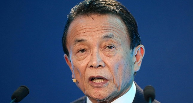 Taro Aso, Deputy Prime Minister, Minister of Finance and Minister of State for Financial Services of Japan, speaks during the Milken Institute Global Conference in Beverly Hills, California, U.S., May 1, 2017 Reuters File Photo