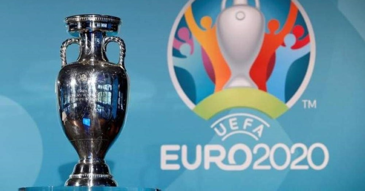 The UEFA Euro 2020 trophy is seen during the logo launch in Munich, Germany, Oct. 10, 2016. (Reuters Photo)