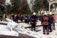 2 killed, 10 injured after snow-laden canopy collapses in Istanbul