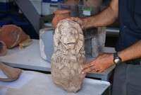 Lion statue from Hellenistic period uncovered in Çanakkale