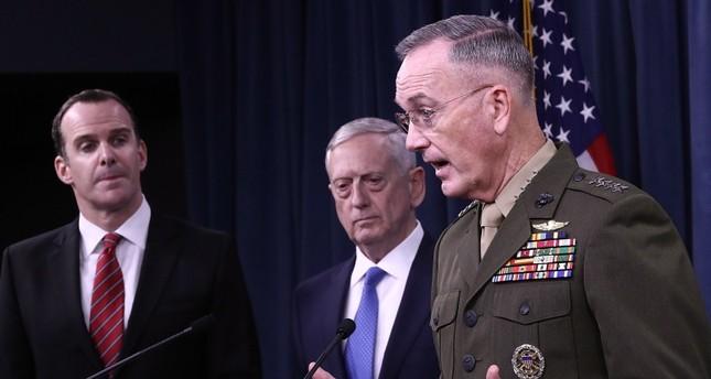 رئيس الأركان الأمريكي الجنرال جوزيف دانفورد متحدثا في أحد المؤتمرات (من الأرشيف)