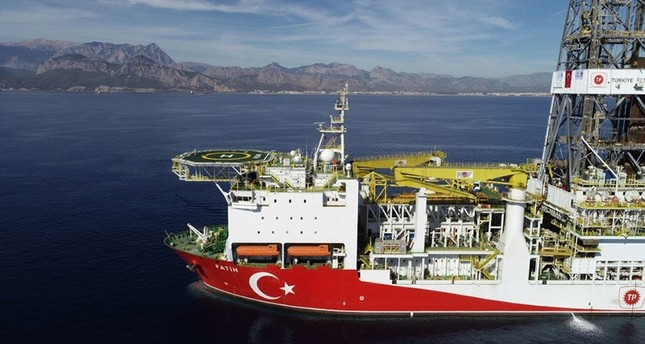 This file photo shows the Fatih drillship off Turkey's southern Antalya province.