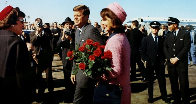 U.S. President John F. Kennedy and first lady Jacqueline Bouvier Kennedy arrive at the Love Field in Dallas, Texas, less than an hour before his assassination, Nov. 22, 1963.
