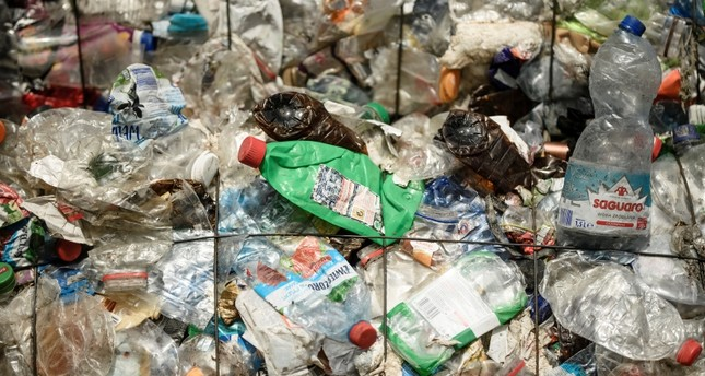 Plastic waste seen at the ALBA Group recycling plant in Berlin, Germany, Aug. 15, 2017. (EPA Photo)