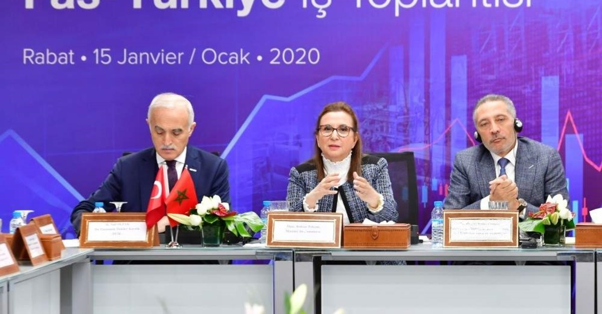 Trade Minister Ruhsar Pekcan attended the Morocco-Turkey Business Forum during her visit to the country. (Trade Ministry - AA Photo)